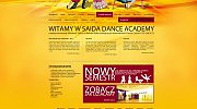 Projekt strony internetowej dla szkoły tańca