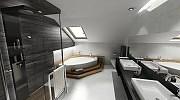 Wizualizacja 3d projektu łazienki