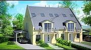 Wizualizacja 3D domu na podstawie planów architektonicznych